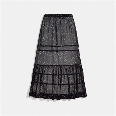 Fashion 4 Coach Tiered Skirt With Snaps