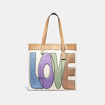 Fashion 4 Coach Tote 38 With Love Print