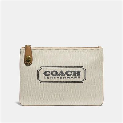 Fashion 4 Coach Turnlock Pouch 26 With Coach Badge