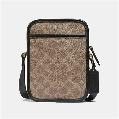 Fashion 4 Coach Zip Camera Bag In Signature Canvas