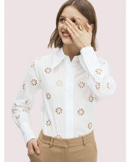 Fashion 4 - spade clover eyelet blouse