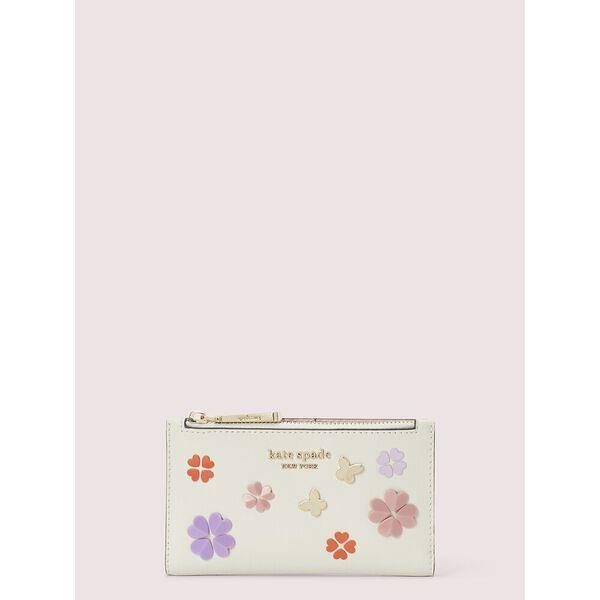 Fashion 4 - spencer spade clover butterfly small slim bifold wallet