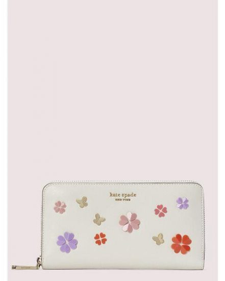 Fashion 4 - spencer spade clover butterfly zip-around continental wallet