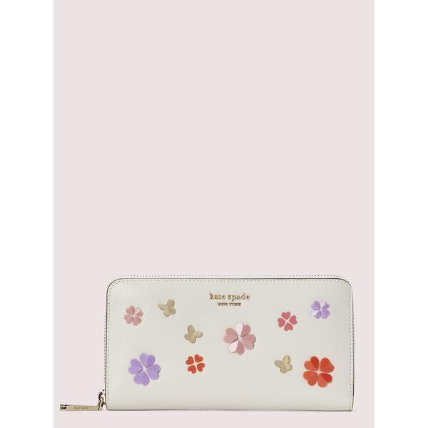 Fashion 4 - spencer spade clover butterfly zip-around continental wallet