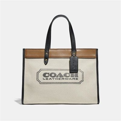 Fashion 4 Coach Field Tote 30 With Coach Badge