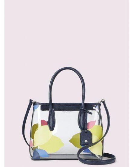 Fashion 4 - eva see-through lemon zest small top zip satchel