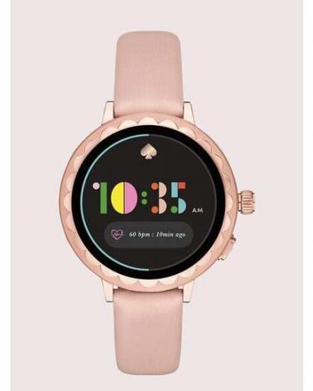 Fashion 4 - kate spade new york scallop blush leather smartwatch 2 featuring contactless payment
