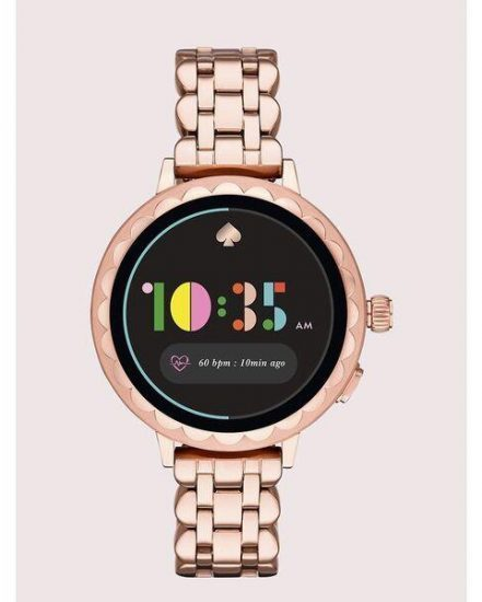 Fashion 4 - kate spade new york scallop rose gold-ton stainless steel smartwatch 2 featuring contactless payment