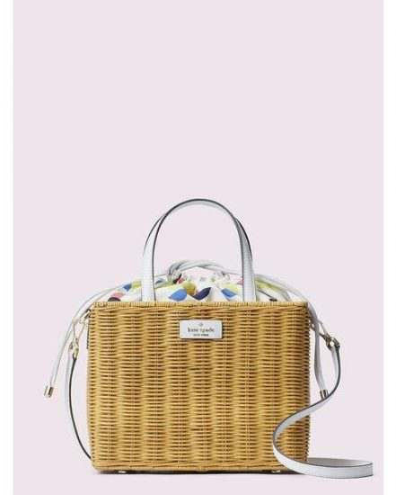 Fashion 4 - sam wicker lemon zest medium satchel