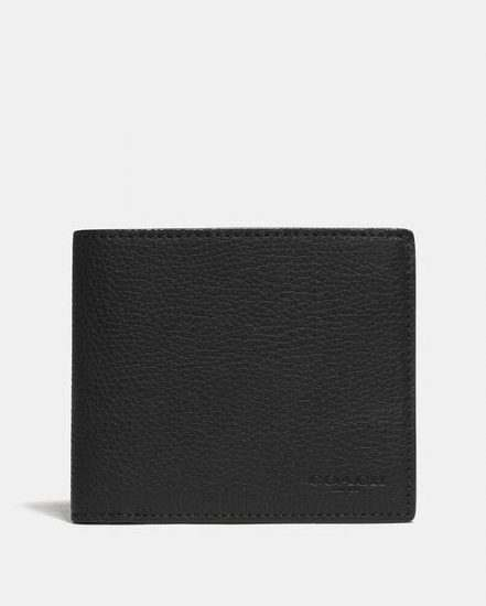Fashion 4 Coach 3-In-1 Wallet With Signature Canvas Detail