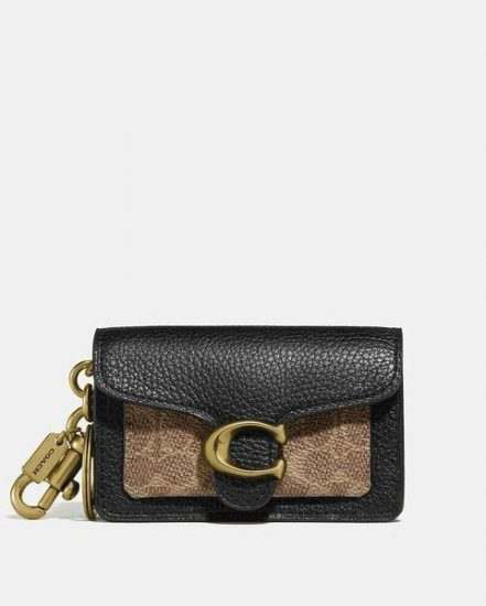 Fashion 4 Coach Mini Tabby Bag Charm In Signature Canvas
