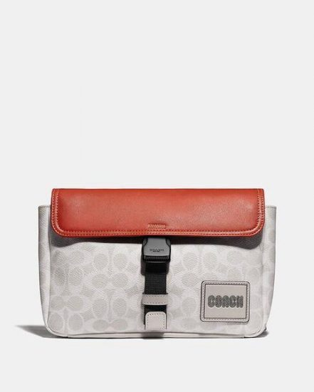 Fashion 4 Coach Pacer Belt Bag In Signature Canvas With Coach Patch