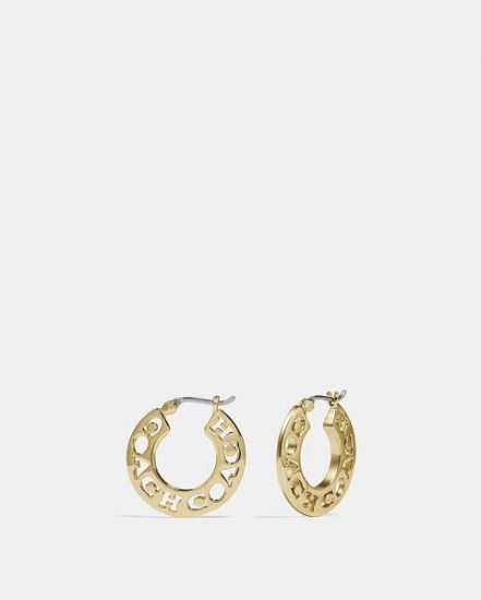 Fashion 4 Coach Pierced Coach Hoop Earrings