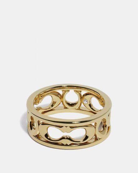 Fashion 4 Coach Pierced Signature Ring