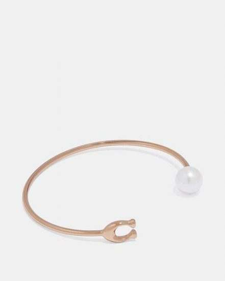 Fashion 4 Coach Sculpted Signature Pearl Bangle