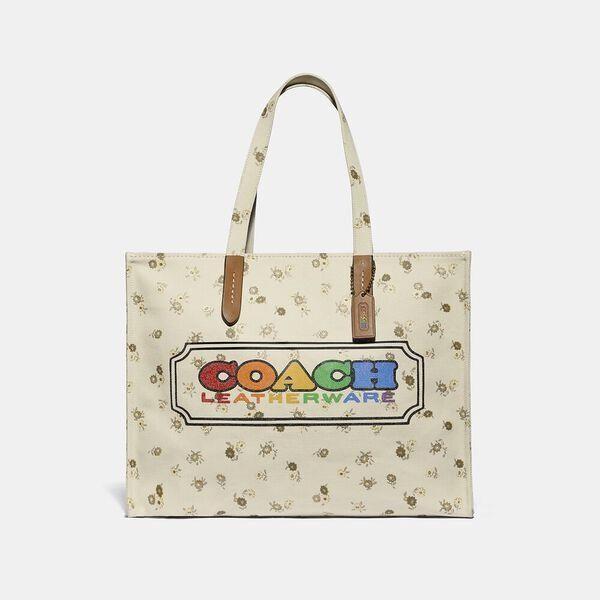 Fashion 4 Coach Tote With Rainbow Coach Badge
