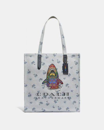 Fashion 4 Coach Tote With Rainbow Signature Sharky