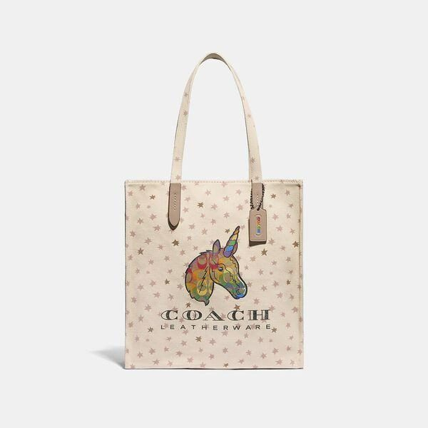 Fashion 4 Coach Tote With Rainbow Signature Uni