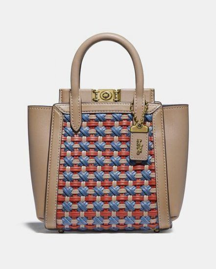 Fashion 4 Coach Troupe Tote 16 With Weaving