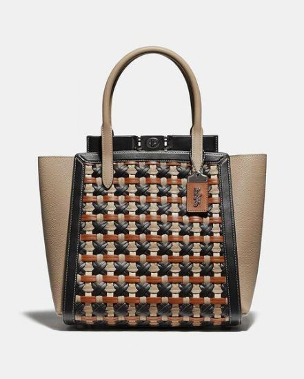 Fashion 4 Coach Troupe Tote With Weaving