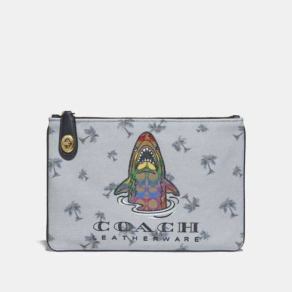 Fashion 4 Coach Turnlock Pouch 26 With Rainbow Signature Sharky