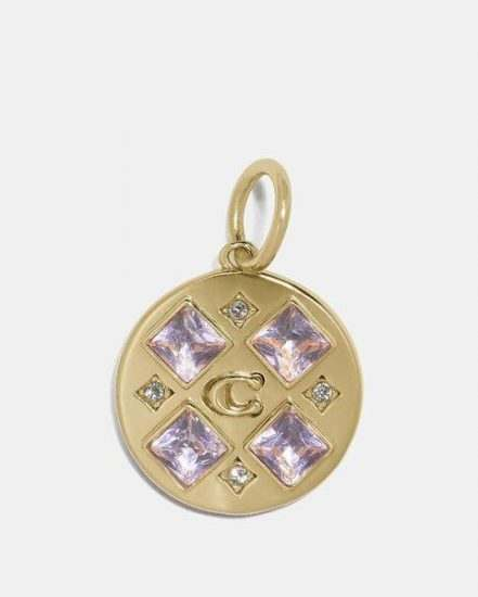 Fashion 4 Coach Collectible Crystal Signature Disc Charm