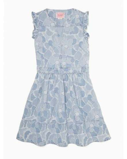 Fashion 4 - abstract peony denim dress