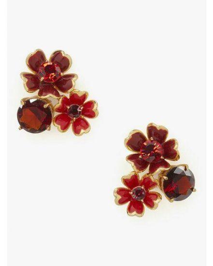 Fashion 4 - blushing blooms cluster studs