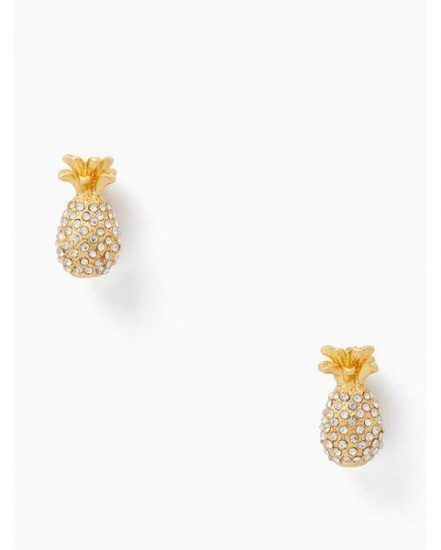 Fashion 4 - by the pool pave pineapple mini studs