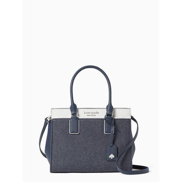 Fashion 4 - cameron denim colorblock medium satchel
