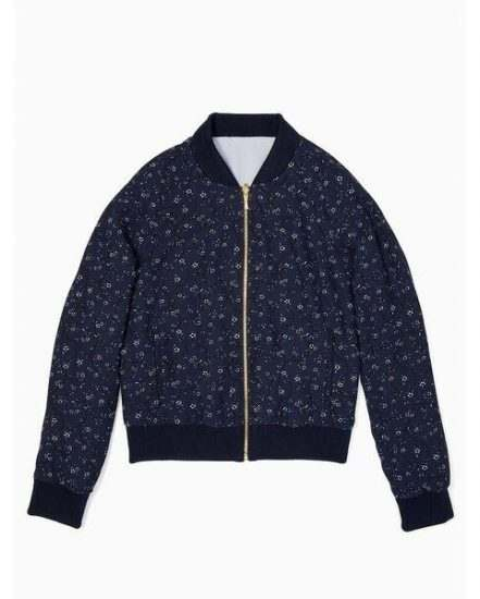 Fashion 4 - out west wild roses reversible bomber jacket