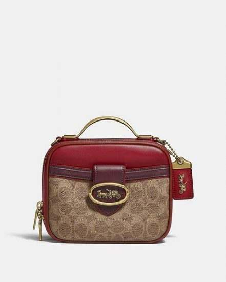 Fashion 4 Coach Riley Lunchbox Bag In Colorblock Signature Canvas