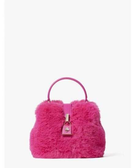 Fashion 4 - remedy faux fur small top-handle bag