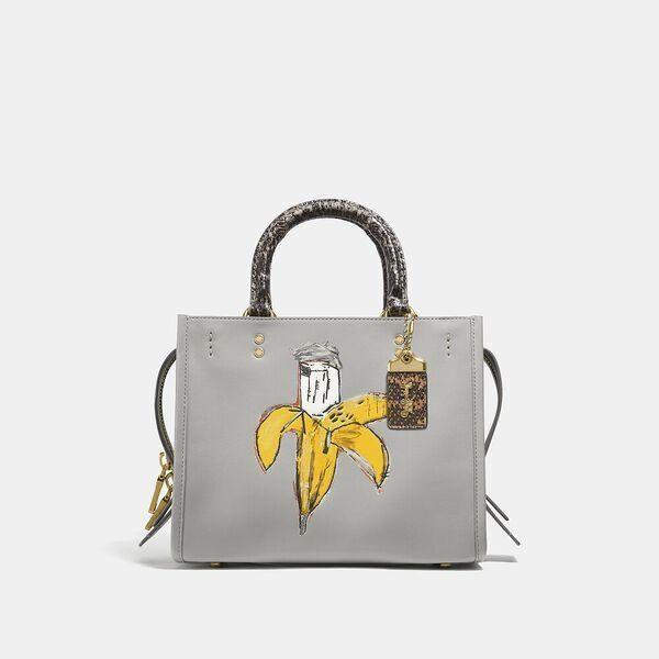Fashion 4 Coach Coach X Basquiat Brown Spots And Snake Handle Rogue Bag 25