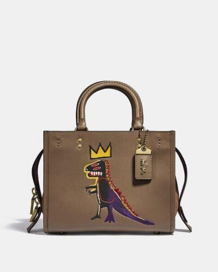 Fashion 4 Coach Coach X Basquiat Pez Dispenser With Suede Gusset Rogue Bag 25