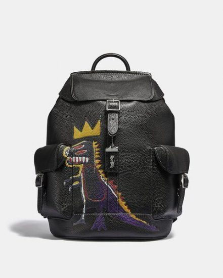 Fashion 4 Coach Coach X Jean-Michel Basquiat Wells Backpack In Pez Dispenser