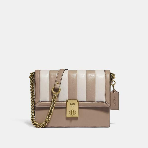 Fashion 4 Coach Hutton Shoulder Bag With Colorblock Quilting