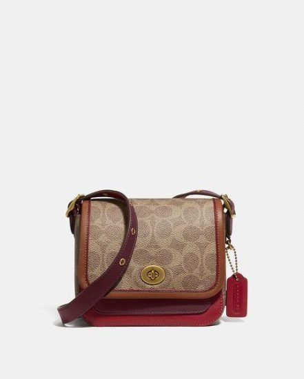 Fashion 4 Coach Rambler Crossbody 16 In Signature Canvas
