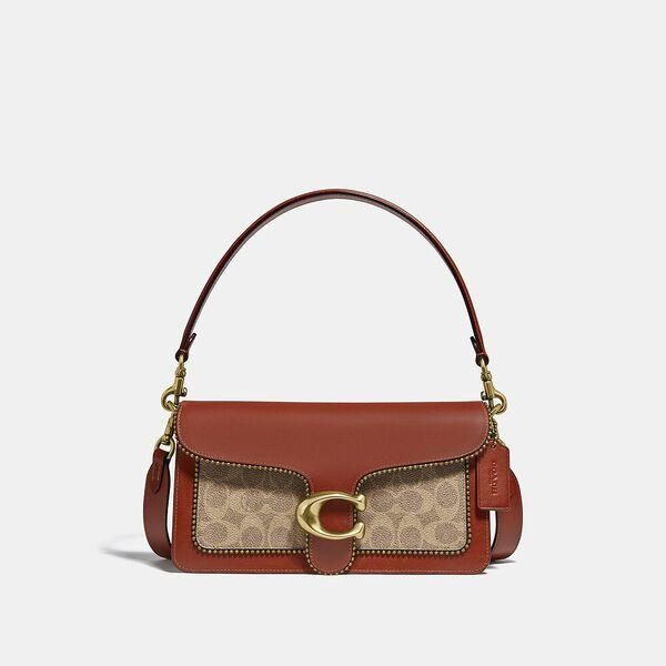 Fashion 4 Coach Tabby Shoulder Bag 26 In Signature Canvas With Beadchain