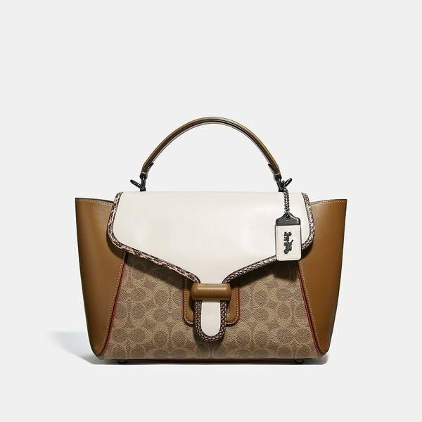 Fashion 4 Coach Courier Carryall In Colorblock Signature Canvas With Snakeskin Detail