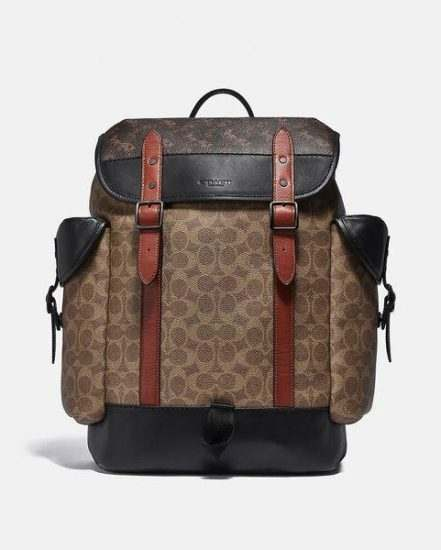 Fashion 4 Coach Hitch Backpack In Signature Canvas With Horse And Carriage Print
