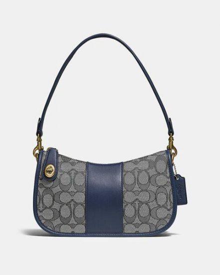 Fashion 4 Coach Swinger Bag In Signature Jacquard