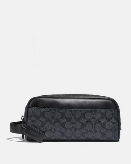 Fashion 4 Coach Travel Kit In Signature Canvas