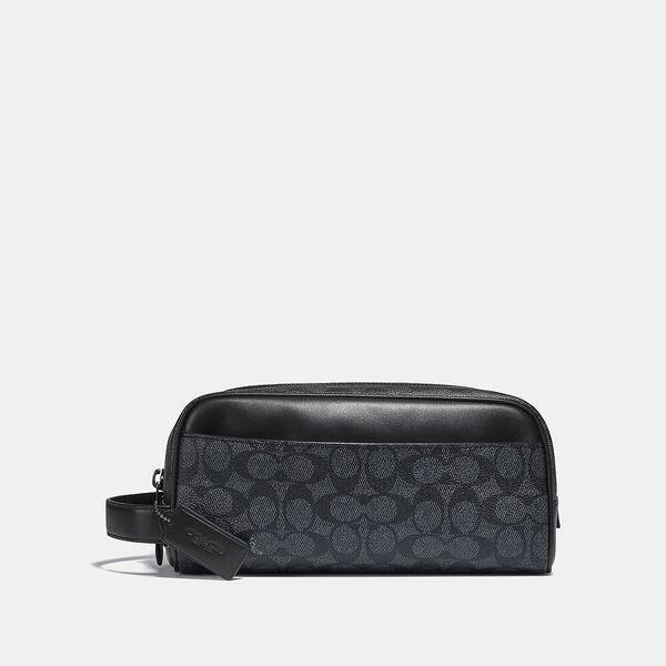 Fashion 4 Coach Travel Kit In Signature Canvas