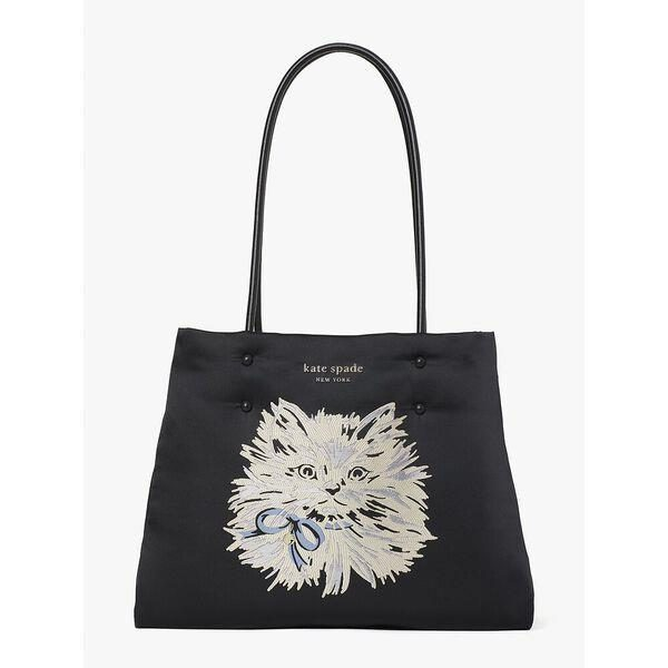 Fashion 4 - everything puffy cat large tote