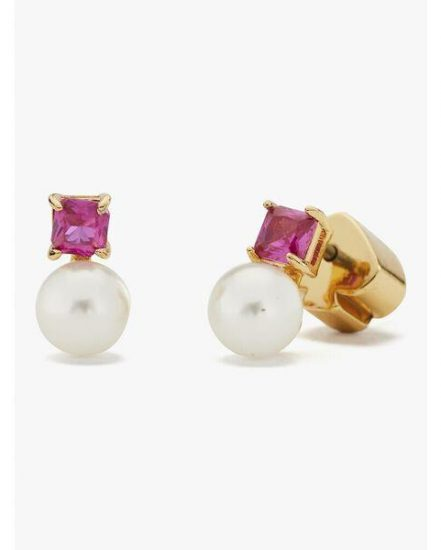 Fashion 4 - little gem pearl & stone mini studs