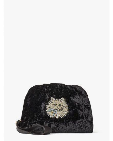 Fashion 4 - party velvet cat clutch
