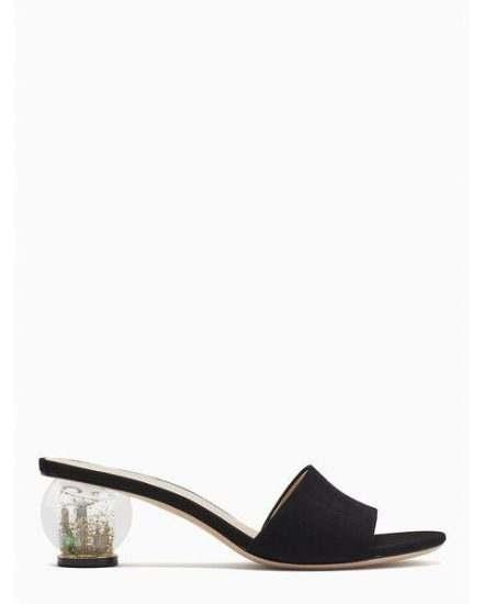 Fashion 4 - polished slide sandals