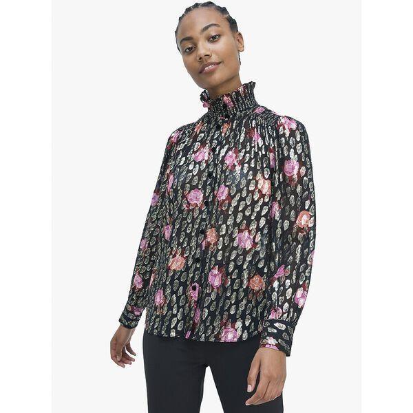 Fashion 4 - rose garden smocked neck top