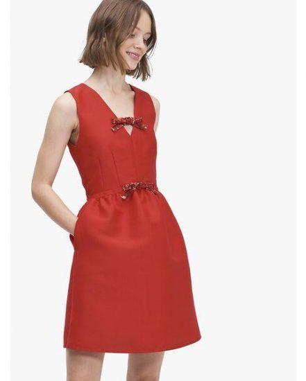 Fashion 4 - sequin-bow mikado dress